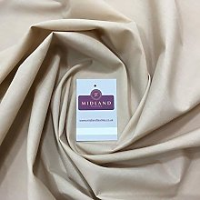 Beige PolyCotton Fabric - Dress Craft 44 Inch Wide