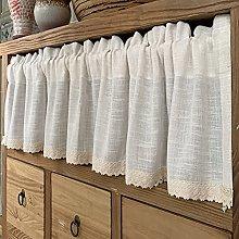 Beige Tiers Curtain,Kitchen Half Curtain Retro