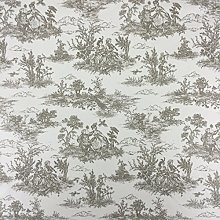 Beige Vintage French Lovers Scenes Toile de Jouy