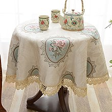 BEIGOO European style Round Tablecloths,Macrame