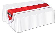 Beistle 20891 Santa Suit Fabric Table Runner,