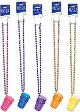 Beistle Beads with Glass, Multicolor