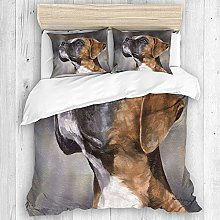 BEITUOLA Bedding - Duvet Cover Set,boxer dog pet