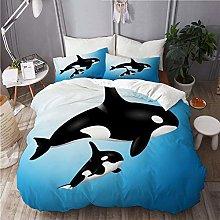 BEITUOLA bedding - Duvet Cover Set,Orca Family