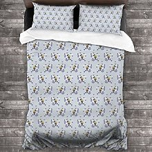BEITUOLA Duvet Cover Set,Equestrian Animal Pattern
