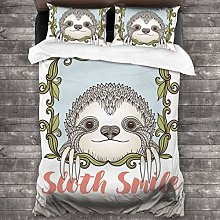 BEITUOLA Duvet Cover Set,Exotic Animal In Floral