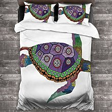 BEITUOLA Duvet Cover Set,Fabric Sea Turtle Animal