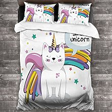 BEITUOLA Duvet Cover Set,Fairy Animal With Ice