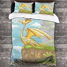 BEITUOLA Duvet Cover Set,Fantastic Winged Animal