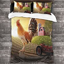 BEITUOLA Duvet Cover Set,Farm Barn Yard Image With