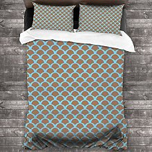 BEITUOLA Duvet Cover Set,Fish Animal Scales