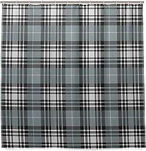 BEITUOLA Shower Curtain,Checkered Dark British