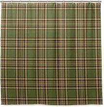 BEITUOLA Shower Curtain,Tartan Pattern In Autumn