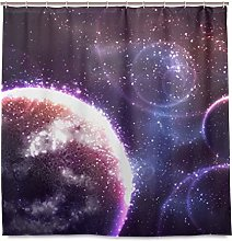 BEITUOLA Shower Curtain,Vector Space Background