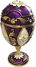 Bejeweled Ring Holder Faberge Style Egg Trinket