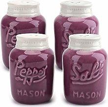 Bekith 4 Pack Salt and Pepper Shakers Ceramic