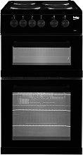 Beko KD533AK 50cm Twin Cavity Electric Cooker -