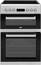 Beko KDC653S 60cm Double Oven Electric Cooker -