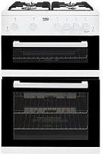 Beko Kdg611W 60Cm Double Oven Gas Cooker With Gas