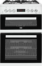 Beko KDG653W 60cm Double Oven Gas Cooker - White