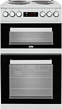 Beko KDV555AS 50cm Double Oven Electric Cooker -