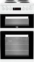 Beko KDV555AW 50cm Double Oven Electric Cooker -