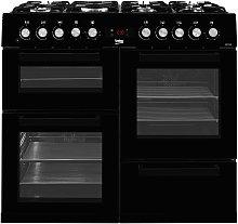 Beko KDVF100K 100cm Dual Fuel Range Cooker - Black