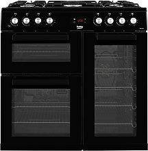 Beko KDVF90K 90cm Dual Fuel Range Cooker - Black