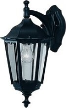 Bel Aire Outdoor Wall Down Light In Black With