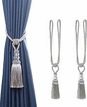 BEL AVENIR 2 Pack Curtain Hand-Woven Tiebacks