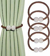 BEL AVENIR Magnetic Curtain Tiebacks Clips Pearl
