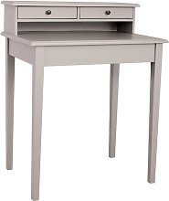 Belapais Desk August Grove Colour: Taupe