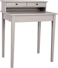 Belapais Desk August Grove Colour: Taupe