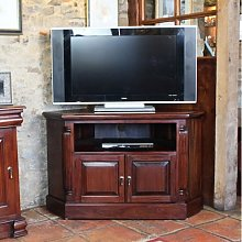 Belarus Corner LCD TV Stand In Mahogany With