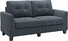 Belffin 2 Seater Sofa Small Sofa 2 Seater Fabric