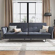 Belffin Velvet 2 Seater Sofa Bed with Memory Foam
