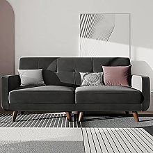 Belffin Velvet 2 Seater Sofa Fabric Couch Small