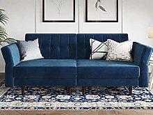 Belffin Velvet Futon Sofa Bed Double Adult 2