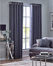 Belfield home Orion Graphite Eyelet Lined Curtains