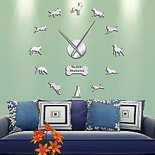 Belgian Shepherd Large Frameless Wall Clocks Home