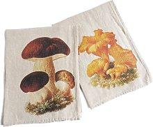 Belgr Mushrooms Print Washed Dish Cloth Brambly