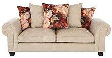 Belgravia Fabric 3 Seater Scatter Back Sofa