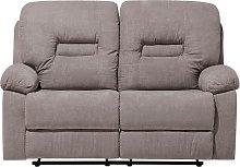 Beliani - 2 Seater Fabric Recliner Sofa Taupe