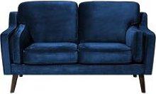 Beliani - 2 Seater Velvet Sofa Blue LOKKA
