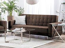 Beliani 3 Seater Fabric Sofa Brown ABERDEEN