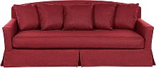Beliani - 3 Seater Fabric Sofa Red GILJA