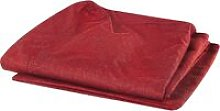 Beliani - 3 Seater Sofa Cover Red GILJA