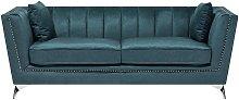 Beliani - 3 Seater Velvet Fabric Sofa Teal GAULA