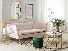 Beliani - 3 Seater Velvet Sofa Pink FREDERICA