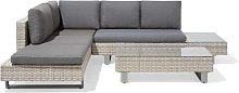 Beliani 5 Seater Rattan Garden Corner Sofa Set